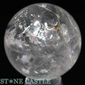 ☆置石一点物☆【天然石 置き石】丸玉 レインボー水晶 約66mm No.33