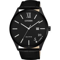CITIZEN 星辰 光動能520愛戀手錶-黑/41.5mm BM7357-10E