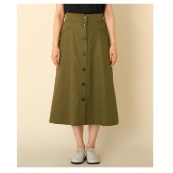 Couture Brooch(クチュールブローチ)【WEB限定サイズ(LL)あり/手洗い可】フロントボタン ミモレスカート