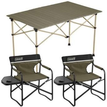 コールマン(Coleman) イージーロール2ステージテーブル/110 オリーブ&サイドテーブルデッキチェアST オリーブ 2000034679/2000033809×2 2019年 新商品