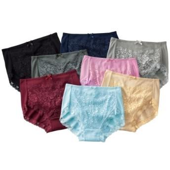 綿100%フライスレーシーレギュラーショーツ8枚組 スタンダードショーツ,Panties