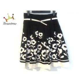 エムズグレイシー M'S GRACY スカート サイズ38 M レディース 美品 黒×白  値下げ 20190923