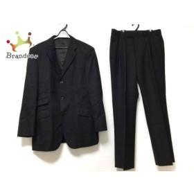 バーバリーブラックレーベル シングルスーツ メンズ 黒×白×グレー チェック柄  値下げ 20190820