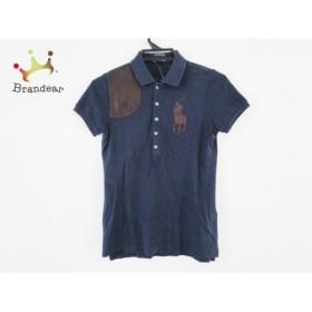 ラルフローレン 半袖ポロシャツ サイズXS レディース ダークネイビー×ダークブラウン 新着 20190718