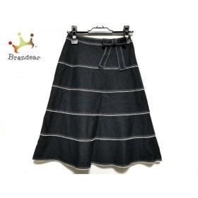 エムズグレイシー スカート サイズ38 M レディース 美品 ネイビー×白 デニム/レース/ラメ 新着 20191027