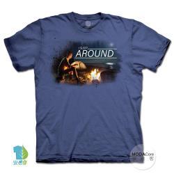 摩達客(預購)(3XL)美國進口The Mountain月光露營夜純棉環保藝術中性短袖T恤