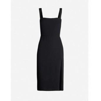 リフォーメーション REFORMATION レディース ワンピース ミドル丈 ワンピース・ドレス Christina crepe midi dress Black