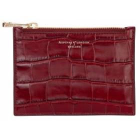 アスピナル オブ ロンドン aspinal of london レディース ポーチ essential mock-croc leather pouch Bordeaux