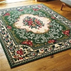 2柄3色から選べるウィルトン織カーペット(ラグ・絨毯) 【4.5畳 約230×230cm】 王朝グリーン 緑  送料無料