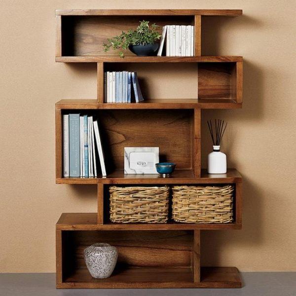 書櫃 書架 收納 北歐實木書櫃儲物收納展示櫃 美式創意實木書櫃多功能隔斷置物架 DF 全館免運