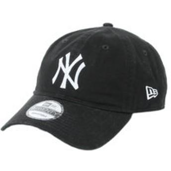 【Super Sports XEBIO & mall店:帽子】9TWENTY Cloth Strap Washed Cotton キャップ ニューヨーク・ヤンキース ブラック×ホワイト 11308523