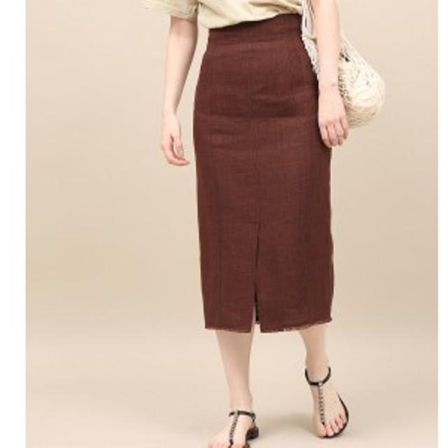 ロペマドモアゼル(ROPE' mademoiselle)/リネンスリットタイトスカート