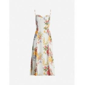 リフォーメーション REFORMATION レディース ワンピース ワンピース・ドレス Juliette floral-print crepe midi dress Bouquet