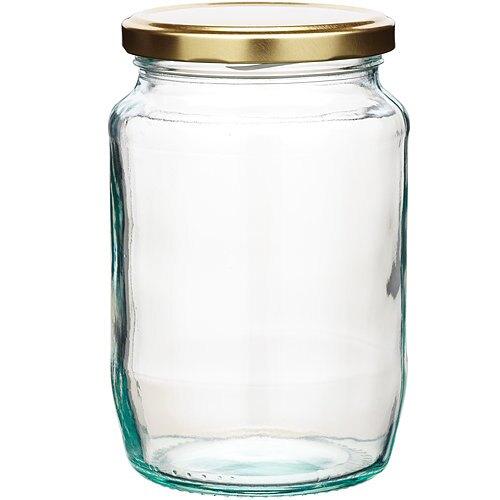 《KitchenCraft》旋蓋玻璃密封罐(金907ml)