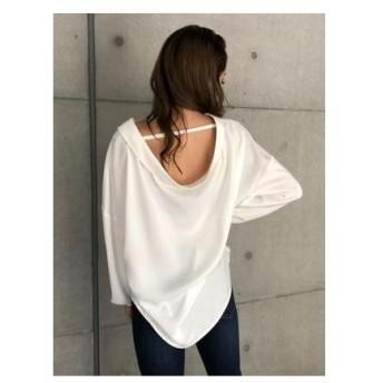 ENVYM バックドレープシャツ ホワイト