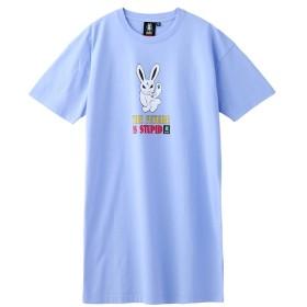 【エックスガール/X-girl】 X-GIRL X KOZIK SMOKING BUNNY S/S TEE DRESS