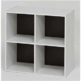 北欧風 カラーボックス/整理 収納棚 【2段 4マス ブラウン】 正方形 幅60cm 『ユニットKDボックス ワイアード』 茶