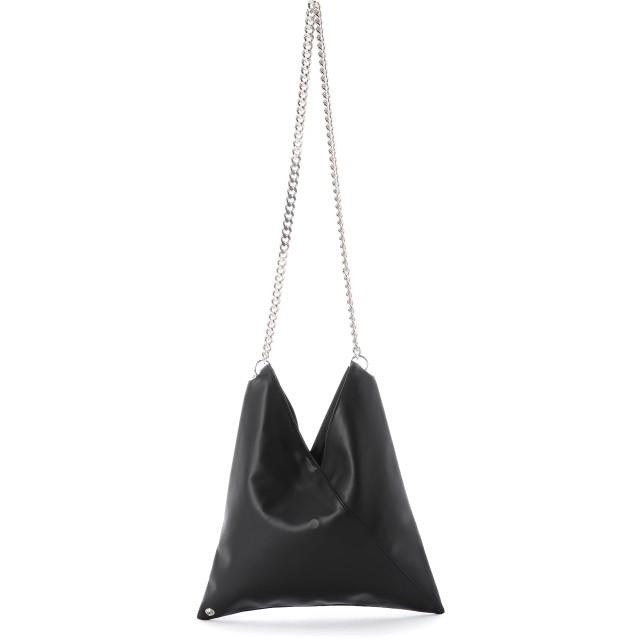 MM6 Maison Margiela ジャパニーズバッグ エコレザーショルダー ショルダーバッグ,ブラック