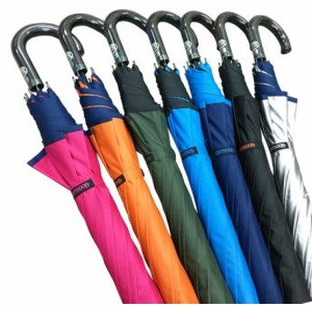 OUTDOOR裏PUコーティング 雨晴兼用長傘 65cm (送料無料)(雨傘、長傘、アンブレラ、梅雨対策)