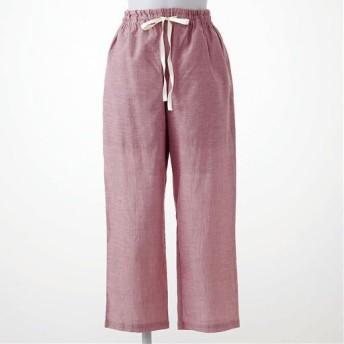 【レディース】 さらりと気持ちいい夏のコットン100%パンツ(8分丈) - セシール ■カラー:クラウディローズ ■サイズ:L,3L,5L,M,LL