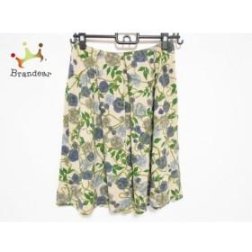 シビラ Sybilla スカート サイズM レディース 美品 ベージュ×グリーン×マルチ 花柄   スペシャル特価 20191023