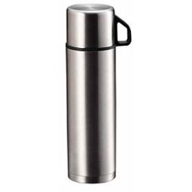 水筒 ダブル ステンレス ボトル スタイルベーシック[H-6826](シルバー, 500ml)