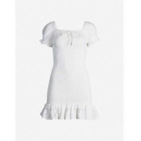 フェイスフルザブランド FAITHFULL THE BRAND レディース ワンピース ワンピース・ドレス Cette puff-sleeved linen mini dress Plain wa