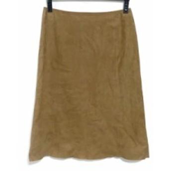 フォクシー FOXEY スカート サイズ42 L レディース ライトブラウン フェイクスエード【中古】20190711