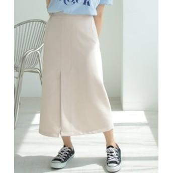 ボトムス スリットAラインスカート レディース スリットスカート ウエストゴム Aライン DONOBAN SELECT|