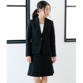 小さいサイズ 洗える定番セミフレアスカートスーツ 【小さいサイズ・小柄・プチ】事務服・ベストスーツ