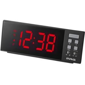 【正規品】NOA ノア精密 クロック T-738 BK 置時計 LED目覚まし時計 レッドチャージ