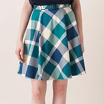 【ブルーレーベル・クレストブリッジ 】【限定カラーあり】クレストブリッジチェック フレアスカート