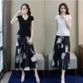 パンツドレス レディース オールインワン セットアップ 結婚式 パーティー ロング ドレス  九分丈パンツ 大きいサイズ