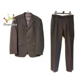 ニコルクラブ NICOLE CLUB シングルスーツ サイズ46 XL メンズ 黒 肩パッド/ストライプ/FOR MEN   スペシャル特価 20191009
