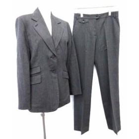【中古】ポールスミスウィメン Paul Smith WOMEN スーツ セットアップ ジャケット パンツ 40 グレー  /☆G