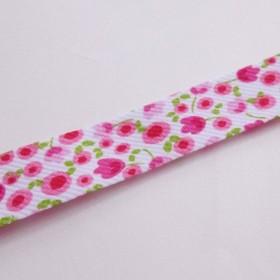フランス バイアステープ 小花がかわいいピンク系