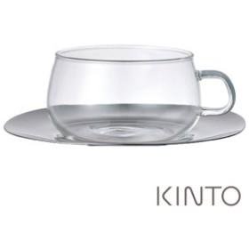 キントー(UNITEA)   8337 カップ&ソーサー 230ml ステンレス