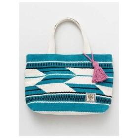 【カヤ】矢絣織りトートバッグ ブルー