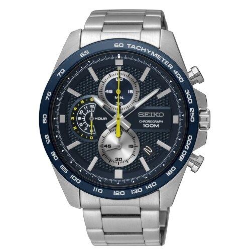 SEIKO 亮眼風格時尚計時腕錶 SSB259P1