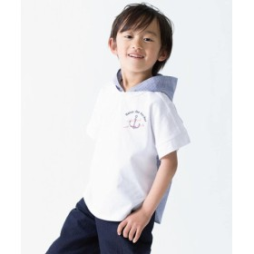 (COMME CA ISM/コムサイズム)【キッズ・ベビーおそろいアイテム】フード付き ビッグTシャツ/レディース ホワイト