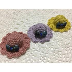 コットン糸のミニチュア帽子 3つ