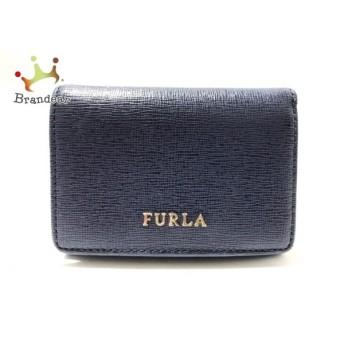 フルラ FURLA Wホック財布 ネイビー ミニ財布 レザー 新着 20190718