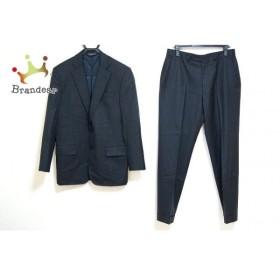 ブルックスブラザーズ シングルスーツ メンズ 黒×ライトグレー ストライプ/肩パッド   スペシャル特価 20190918