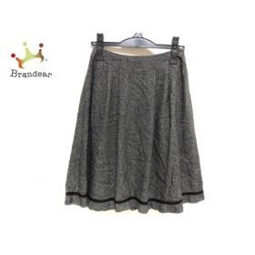 トゥービーシック TO BE CHIC スカート サイズ36 S レディース 美品 ダークグレー×黒×白   スペシャル特価 20191023