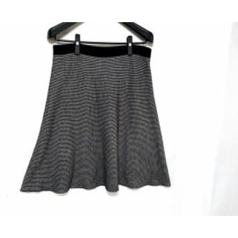 ニジュウサンク 23区 スカート サイズ48 XL レディース 黒×白 千鳥格子/Vingt-trois arrondissements【中古】20190710