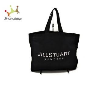 ジルスチュアート JILL STUART トートバッグ 黒×ピンク コットン 新着 20190718