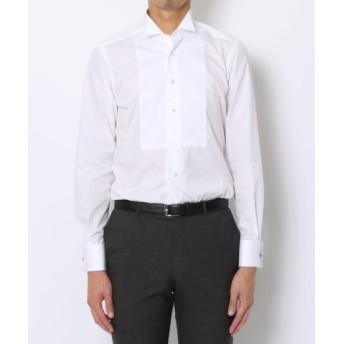 (TOMORROWLAND/トゥモローランド)140/2コットンブロード ウィングカラー ドレスシャツ/メンズ ホワイト 送料無料