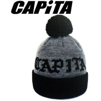 【CAPITA】キャピタ2017-2018 OG POM メンズ ビーニー ニット帽 帽子 BlackGray