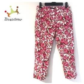 エムズグレイシー M'S GRACY パンツ サイズ38 M レディース 美品 白×ピンク×グリーン 花柄 新着 20190718