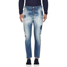 《セール開催中》DSQUARED2 メンズ ジーンズ ブルー 44 コットン 98% / ポリウレタン 2% / 牛革